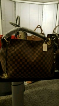 brown Louis Vuitton Monogram leather handbag Falls Church, 22041