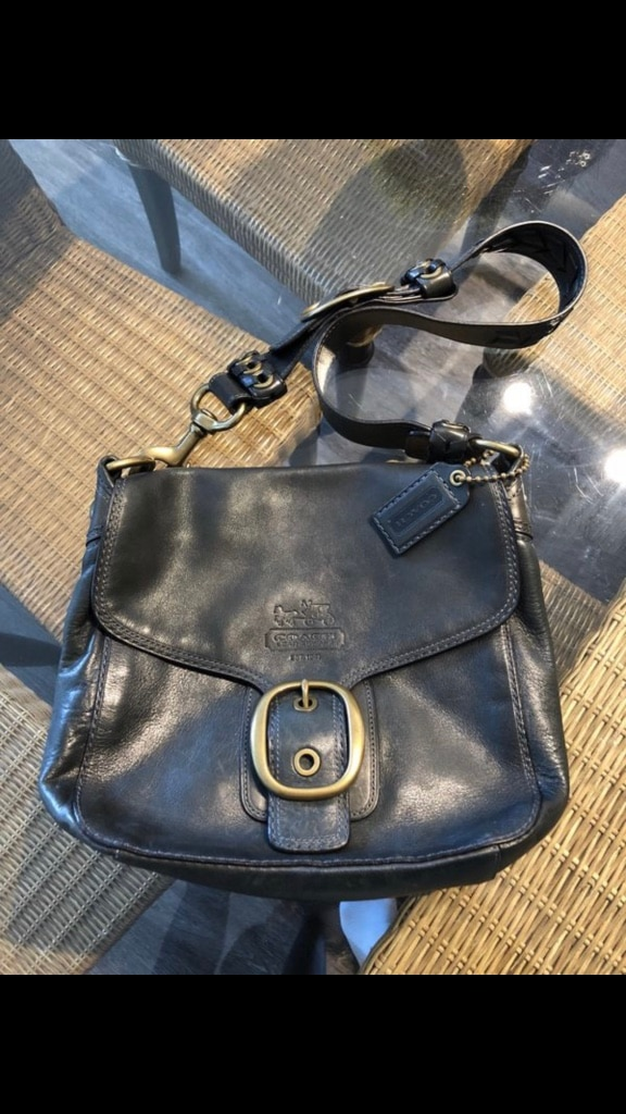 Photo Coach purse. Limited edition. Blue.