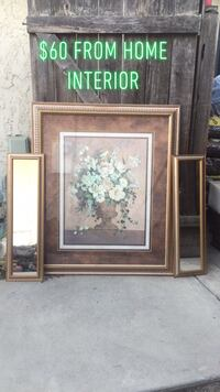 Home Interior Flower frame, it comes with two side mirrors. Selma, 93662