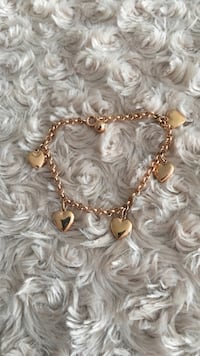 Rose gold heart bracelet  Aurora, L4G