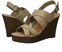 Indigo Rd Women's beige Karla Wedge Sandals