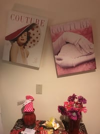 Two couture  wall decors