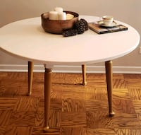Table...rounch shabby chic White/Antique Gold Arlington Heights, 60004