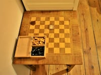 Vintage chess table Berlin, 10997