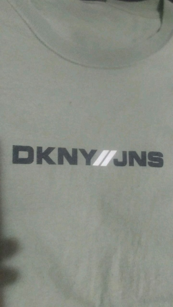 DKNY jeans green tee large