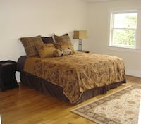 Brown and white floral bed comforter set 45 km