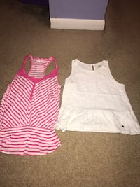 two women's white and pink-and-white tank tops Chillicothe, 45601