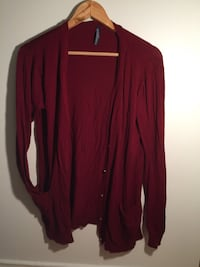 maroon and black button-up long-sleeved shirt Québec, G2A 2B3
