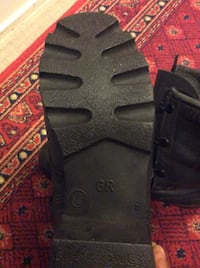 Black leather boots ankle strap heels in good condition. Used for 2days. Toronto, M5A 3H1