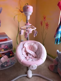 Baby's pink and white cradle and swing Winston-Salem, 27284