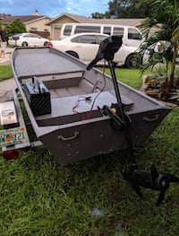 Jon boat with trailer and trolling motor