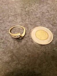 gold-color with diamond bypass ring and round silv