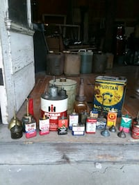 28 PC. Miscellaneous antique oil cans Aurora