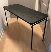 "Vinyl Topped Foldaway Table - 48"" x 20"" x 28"" 41 km"