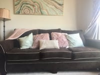 black leather sectional sofa with throw pillows DALLAS