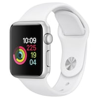 Silver aluminum case apple watch with white sport band Bayonne, 07002