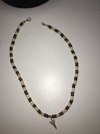 Black and brown beaded necklace
