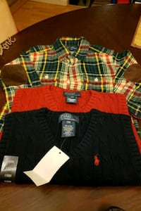 Bundle 2 vest & 1 flannel Camden