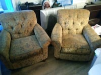 two gray-and-blue floral sofa chairs Bellevue, 98007