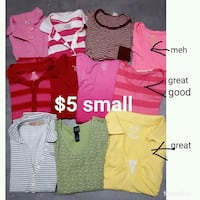 Women/jr size small tee-shirts/polos $5 for all Roy