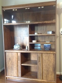 brown wooden TV hutch with cabinet Ashburn, 20147