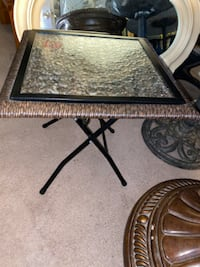 Attractive outdoor/indoor table with glass