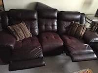 brown leather recliner sofa chair London, N5W