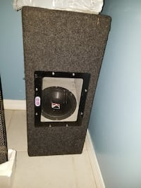 2 ten inch subwoofers with amp and base controller