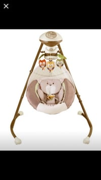 baby's white and gray cradle n swing Temple Terrace, 33637