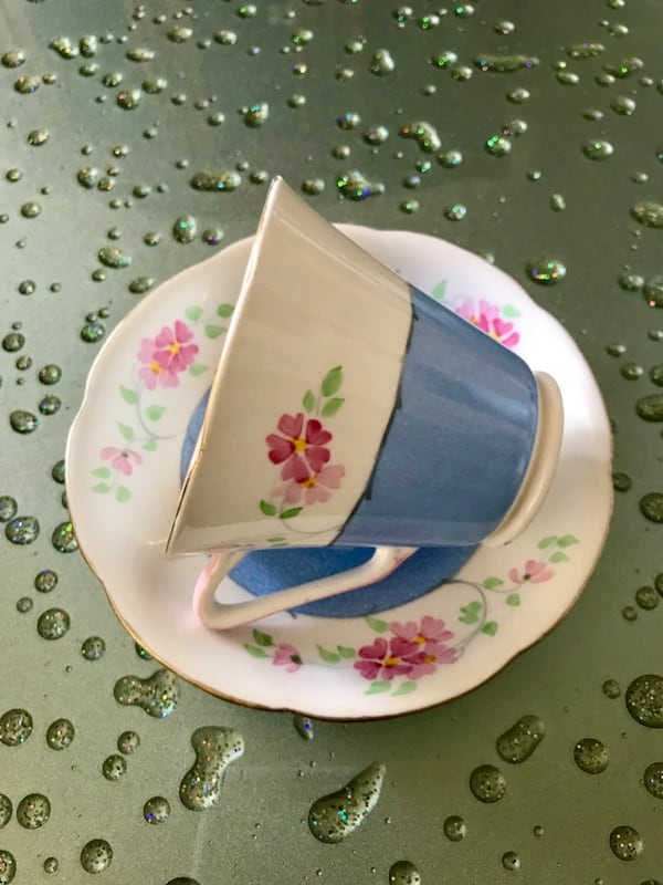 Vintage Royal Grafton hand painted bone china tea cup and saucer. 96bd769c-0a71-43f5-a36f-149192552f51