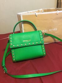 green leather Michael Kors crossbody bag Surrey, V3R 1S2