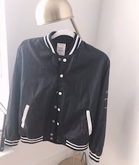 black and white button-up jacket New York, 10023