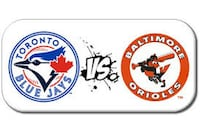 Blue Jays vs. Orioles – July 22…Row 1, Aisle Toronto