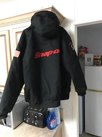 black and red snap-on jacket Harmans, 21077