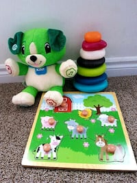 Lap frog learning bear, farmyard puzzle and rings Guelph, N1L 1N2