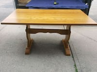Solid wood table 36x60 Coram, 11727