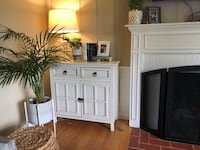 2 White dresser cabinet tables buffet console  Pasadena, 91104