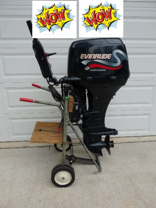 50 hp Evinrude TILLER Outboard boat motor 4-STROKE EFI Suzuki DF50 water  ready  FREE SHIPPING!