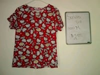 red and black floral scoop-neck shirt Conover, 28613
