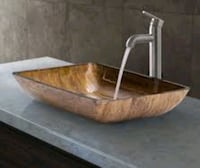 VIGO DESIGNER GLASS VESSEL SINK  San Francisco, 94116