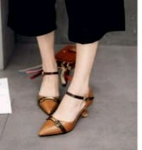 women's pair of brown leather sandals Surrey, V3X 1P3