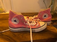 Women's pink Converse high tops - never worn 20002