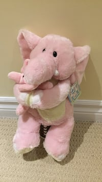 Pink elephant plush toy( never used ) Richmond Hill, L4E