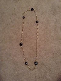 silver and black beaded necklace Burlington, L7N