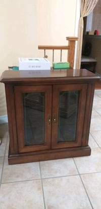 brown wooden cabinet with mirror Mississauga, L5W 1J7
