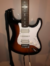UPGRADED FENDER SQUIER BULLET STRATOCASTER ELECTRIC GUITAR