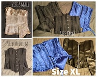 Assorted NEW corsets Sz S-XL. With plastic boning.  Please see descriptions! Edmonton, T5M 0W1