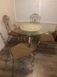 round glass top table with four chairs dining set Lemon Grove, 91945