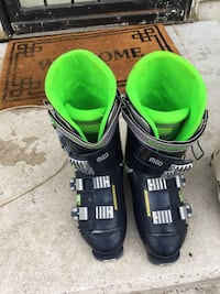 Black-gray-and-green mio ski boots size 8 Frederick, 21704