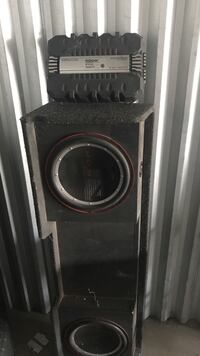black and gray subwoofer speaker Sparks, 89434